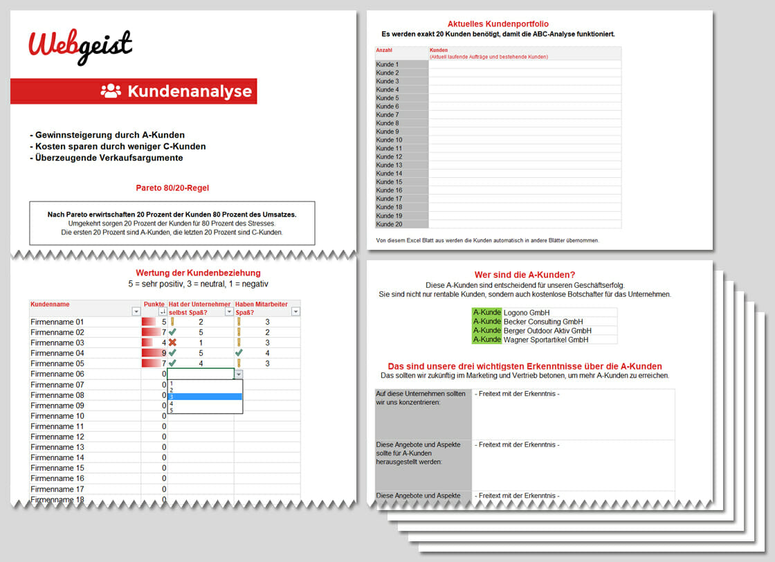 Kundenanalyse – Blanko Vorlage – Excel Download