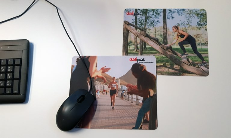 Webgeist Mousepads - Motivation direkt am Arbeitsplatz